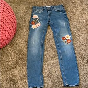 Embroidered Zara Jeans
